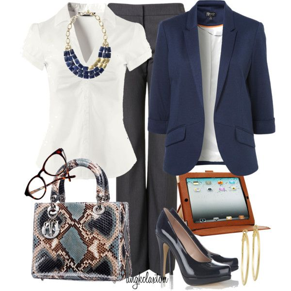 """Oh YES YES YES ladies!!!  Check out this """"All in a Day's Work"""" outfit  by angkclaxton on Polyvore  This is the ultimate example of an outfit that you can put on in the morning and it will fit right in for morning, noon and night.  Suggestion - if you want a more simple professional style during the day than pair this outfit with lower shoes and don't add the necklace until afterhours.  However, this outfit is good as-is!"""