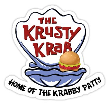 Krusty krab stickers by noveltee shirts redbubble