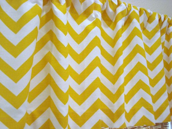 Chevron Valance Zigzag Curtain Kitchen Curtain Childs