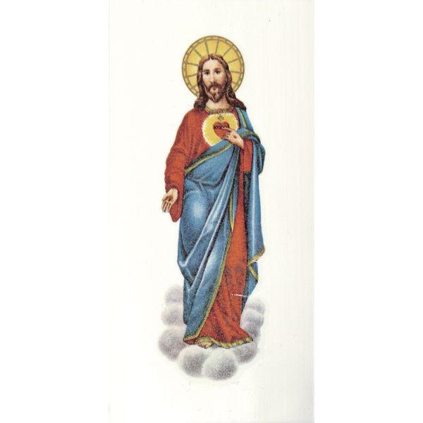 Wachsbild, Herz Jesu, 100x50 mm, SB-Btl. 1 Stück von eckstein-kreativ via dawanda.com