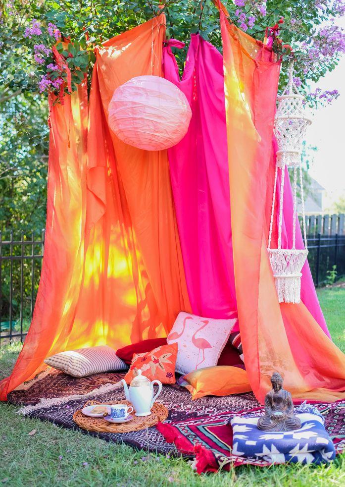 Diy Boho Tent For Fall Outdoor Entertaining Boho Tent