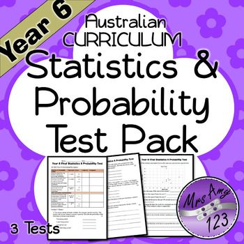 A pack of 3 tests to assess students achievement of the outcomes from the Statistics & Probability Content Descriptors from the Australian Curriculum over the course of a year.The initial test determines whether students have met the end of year requirements for Year 5 given within the first weeks of the year.