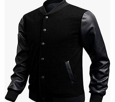 Izaac Men Luxury pu leather Sleeve Baseball Jacket Coats Outerwear Sweatshirt (UK XS /Tag M, black) No description (Barcode EAN = 0331879481363). http://www.comparestoreprices.co.uk/leather-coats/izaac-men-luxury-pu-leather-sleeve-baseball-jacket-coats-outerwear-sweatshirt-uk-xs-tag-m-black-.asp