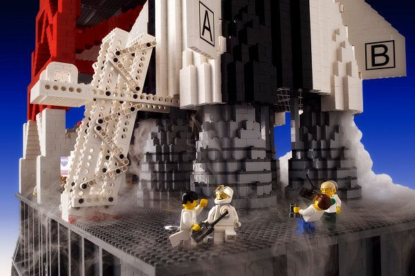 Big Lego Build Nasa Rocket