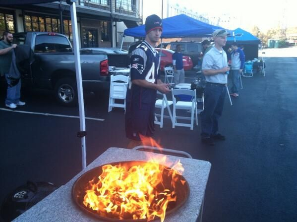 tailgating for the #Panthers vs #Patriots game