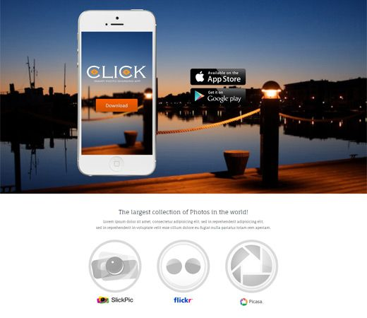 18 best Mobile App Templates Responsive Mobile web Templates images ...