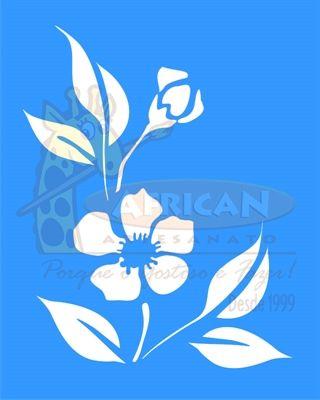 Stencil Flor Peônia Chinesa 20x25 - OPA