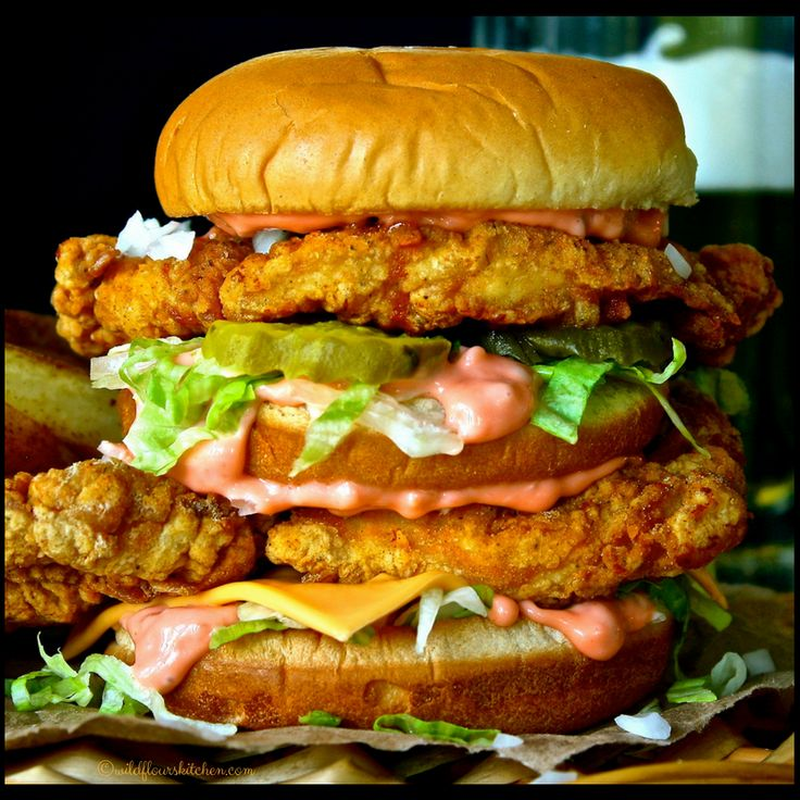 "Ok, say it with me...""Two fried chicken patties, special sauce, lettuce, cheese, pickles, onions, on a sesame seed bun!"" And there you have it! A Chicken Big Mac!! Hehe!     Why not, right?? We love fried chicken sandwiches, so I combined two of our (homemade copycat) fast food favorites into one amazing sandwich!! My hubby…"