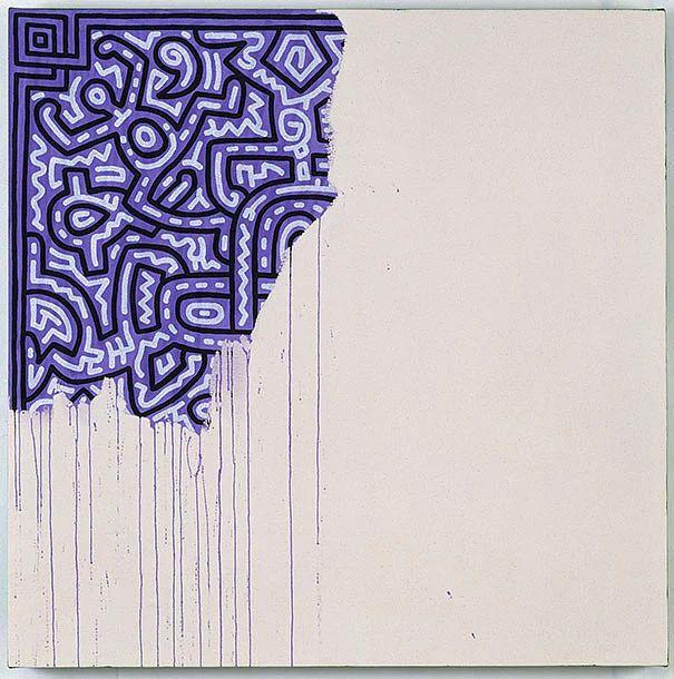 Keith Haring: Yarım Kalmış Resim (1990)