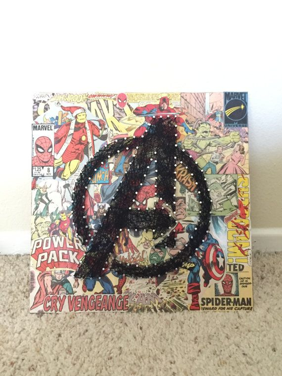 Avenger Comic String Art by MildlySimple on Etsy
