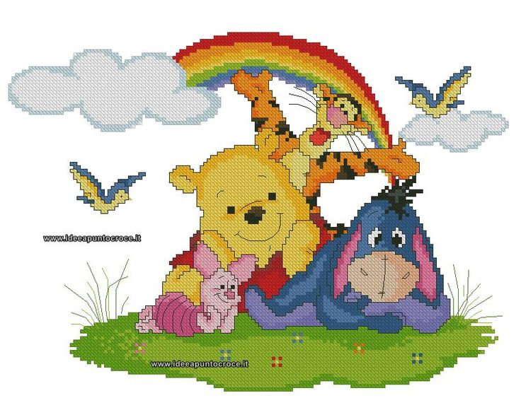 129 best schemi winnie the pooh images on pinterest for Winnie the pooh punto croce