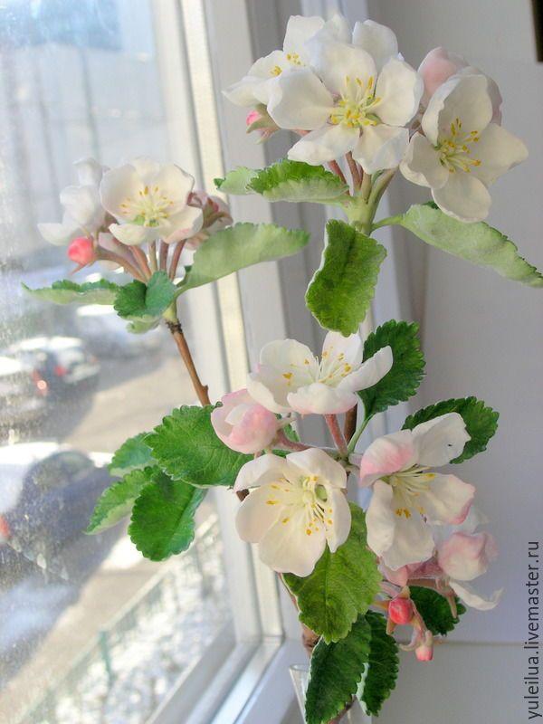 Купить Ветка яблони - салатовый, яблоня, яблоня в цвету, 8 марта подарок, подарок женщине