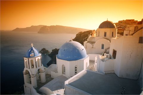 Un fantastico tramonto a santorini!