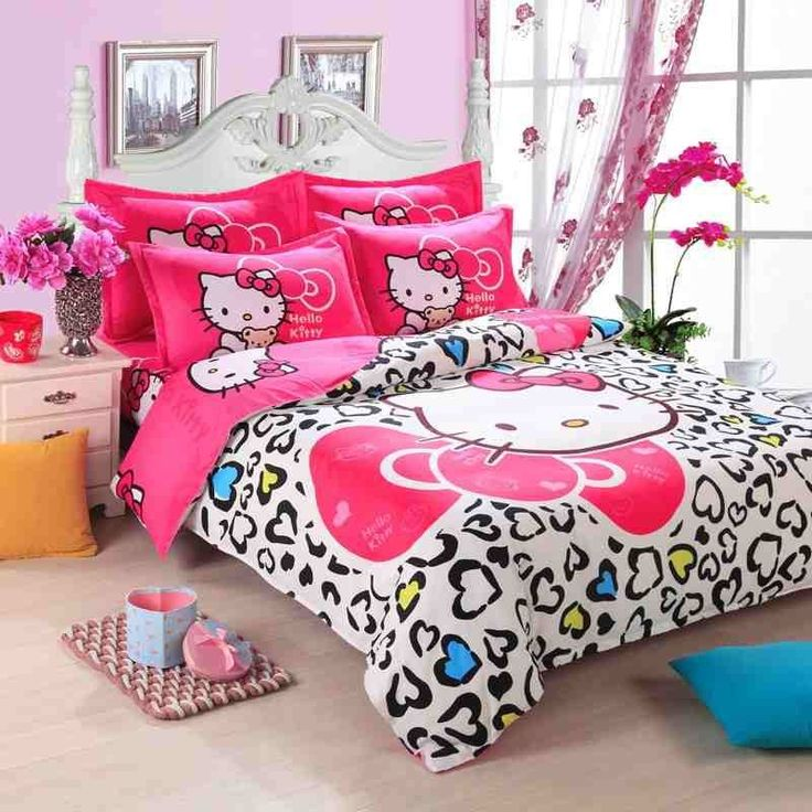 Free express delivery shipping Fashion Luxury 3D Cotton Print Bedding sets  Duvet Cover Bed sheet Twin Queen Pink Hello Kitty. 872 best          Hello Kitty Decor   images on Pinterest   Hello