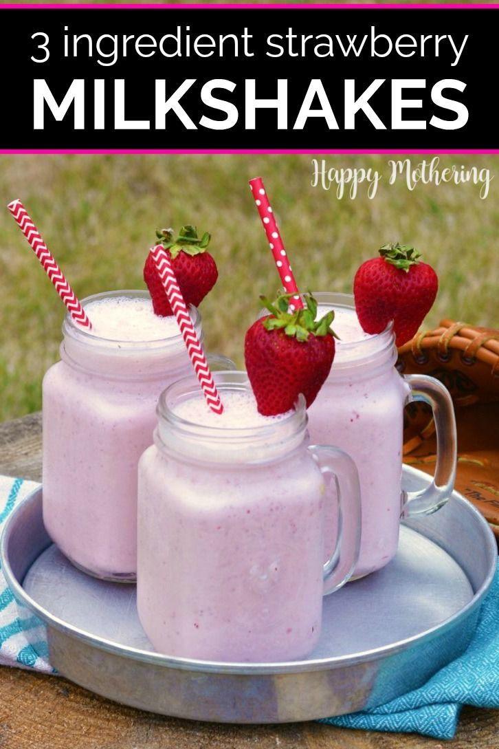 How To Make A Strawberry Milkshake Happy Mothering Recipe Milkshake Recipe Strawberry Homemade Milkshake Strawberry Shake Recipe