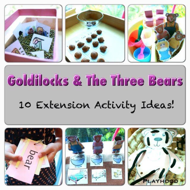 10 Activity Ideas for Goldilocks And The Three Bears! – Playhood