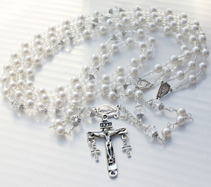 Custom Rosary Wedding Lasso, Wedding Lazo Rosary Traditional Hispanic Mexican Wedding Lasso. $85.00, via Etsy.