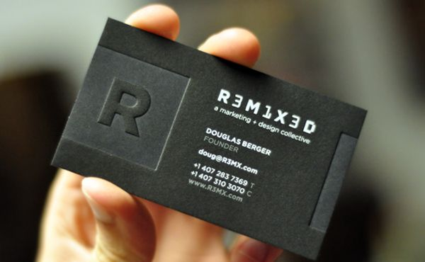 20 letterpress business cards