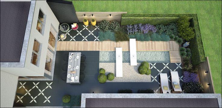 ECO Tuinarchitectengroep | 3D projecten | Strakke stadstuin Aalst