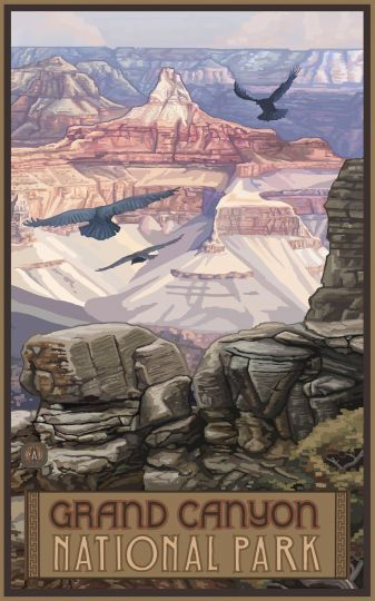 Retro Poster-Grand Canyon National Park (PAL0380)                                                                                                                                                     More