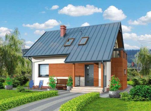 Miluza - dom jednorodzinny z poddaszem użytkowym. Jest połączeniem tradycji z nowoczesnością.