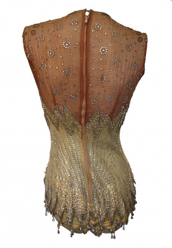 Britney Spears, Circus Showgirl Bodysuit, back - 2008 - The vintage garment has been used previously by assorted celebrities in numerous productions