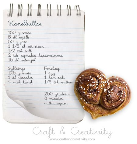 Kanelbullens dag – Cinnamon Bun Day | Craft & Creativity