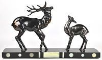 ART deco Spelter bronze Deer statue sculpture French