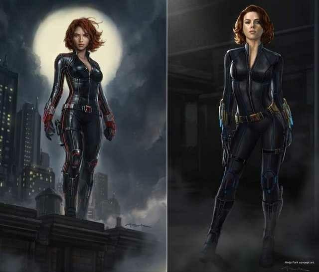Avengers Age Of Ultron Concept Art Natasha Romanoff Black Widow