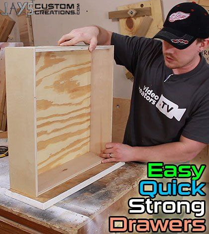 Quick and strong drawers with Kreg Jig. I foresee doing quite a bit of this in the near future.