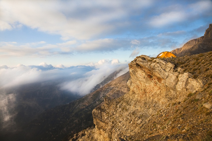 Tent with a balcony, morning hours in Mt. Olympus/Greece At 2.600meters, by Nikos Kalkounos, via 500px