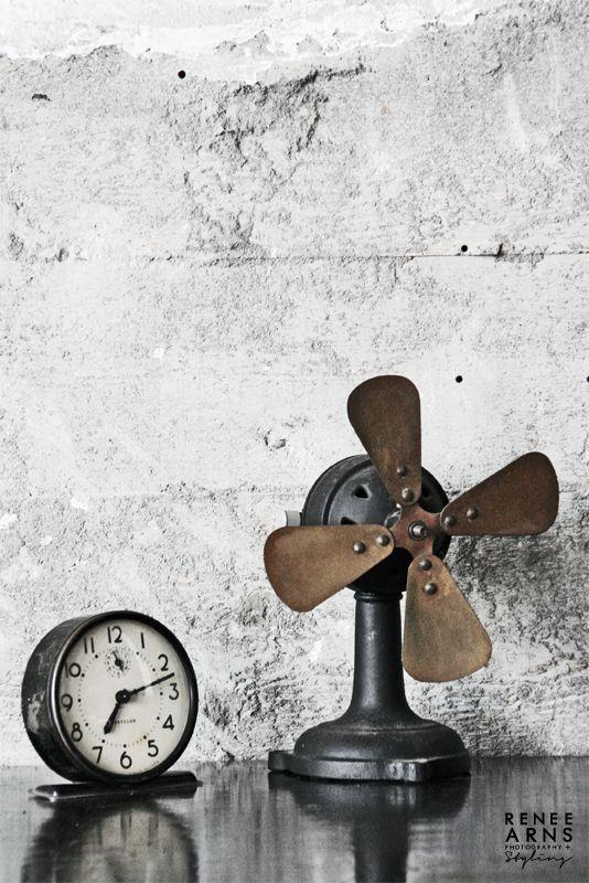 Brocante, déco industrielle, ancien ventilateur