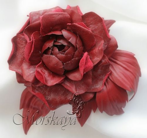29 best images about leather flowers on pinterest flower for Leather flowers for crafts