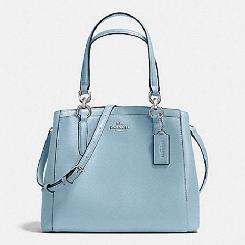 40adf9fb98b4f New Authentic Coach F57847 Minetta Crossbody Shoulder Bag Purse Handbag  Leather Cornflower Blue