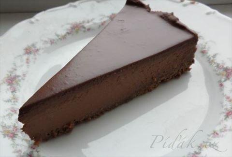 Obrázek z Recept - Jednoduchý, nepečený, čokoládový cheesecake