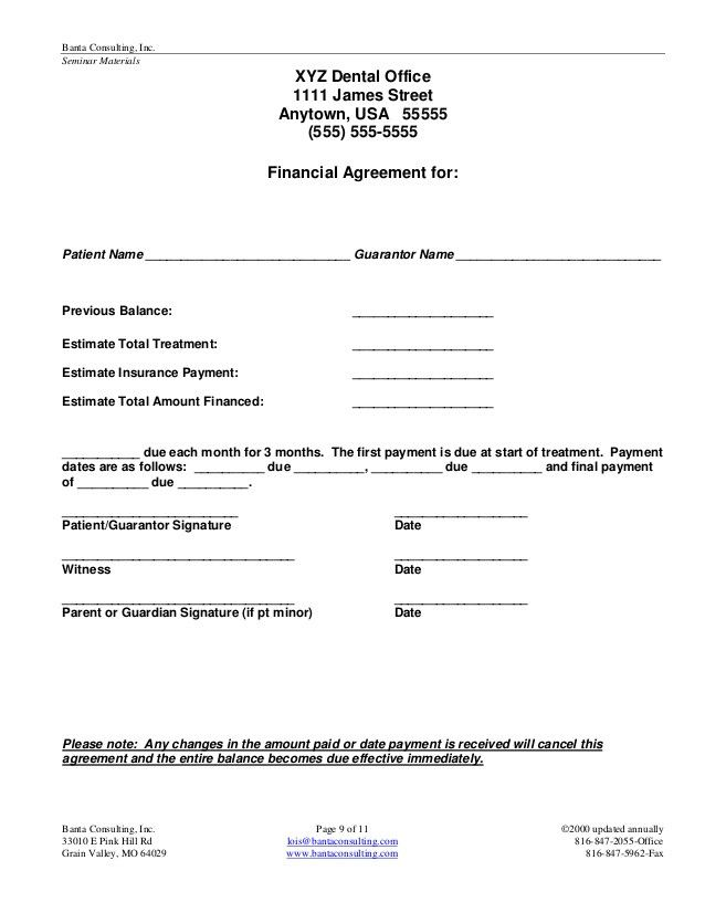 Dental Payment Plan Agreement Template Lovely 23 Of Patient Payment Agreement Template Treatment Plan Template Dental How To Plan