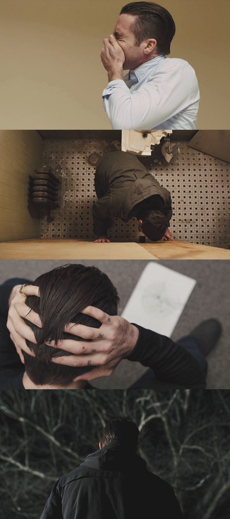 Prisoners (2013) dir. Denis Villeneuve. Cinematographer: Roger Deakins. A great example of the different ways to shoot a character, each shot communicating a different meaning.