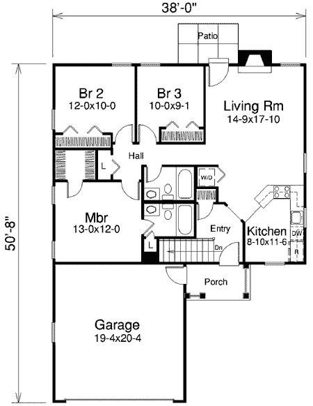 Plan 57150HA: Charming Three-Bedroom Home Plan