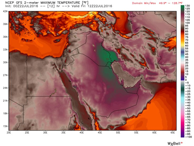 Two Middle East locations hit 129 degrees, hottest ever in Eastern Hemisphere, maybe the world - The Washington Post