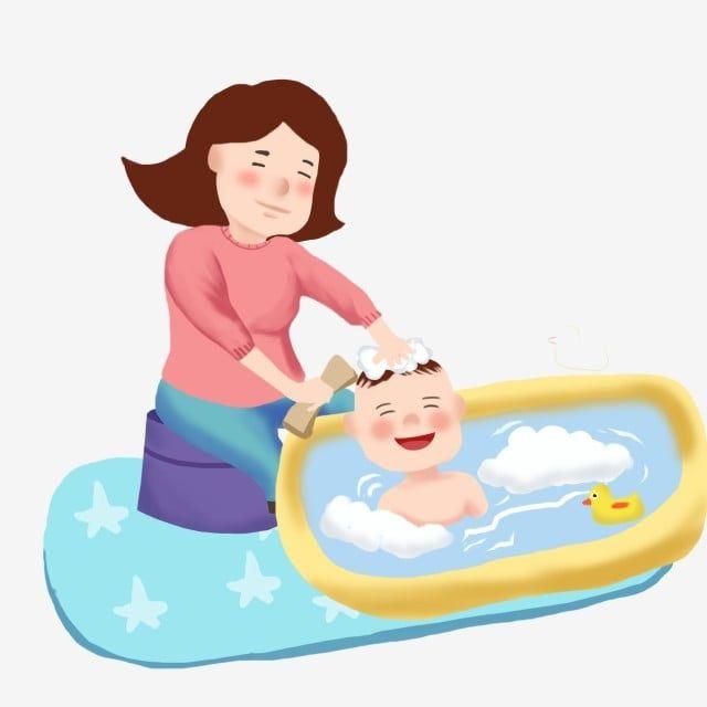 استحمام الطفل الازرق أصفر حصيرة حمام نوع الأم استحمام الطفل الزرقاء حصيرة التوضيح الكرتون Png وملف Psd للتحميل مجانا Disney Princess Disney Character