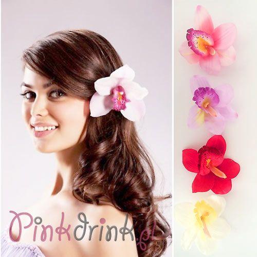 PRZYPINKA do włosów kwiat Hawajskie Party
