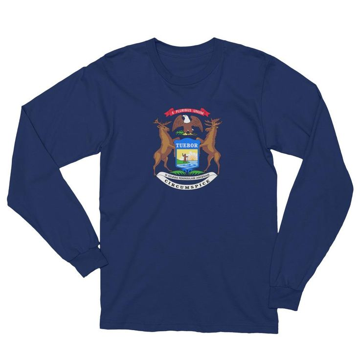 Michigan Flag Long-Sleeve Shirt