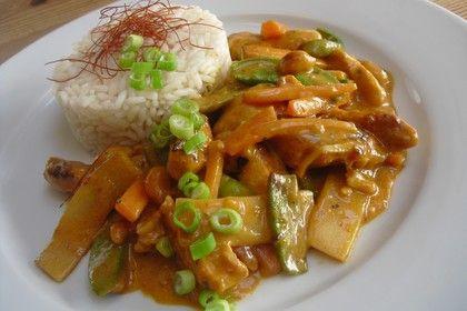 Thai Curry Erdnuss - Kokos - Hühnchen, ein tolles Rezept aus der Kategorie Geflügel. Bewertungen: 272. Durchschnitt: Ø 4,7.