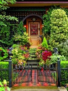 now that is an entrance from ohj garden entrancegarden gatesgothic housevictorian - Beautiful Garden Pictures Houses