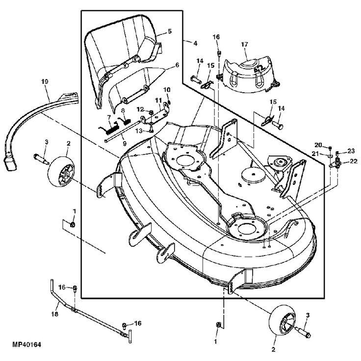 John Deere OEM Replacement Mower Deck Shell - X300 | RunGreen.com