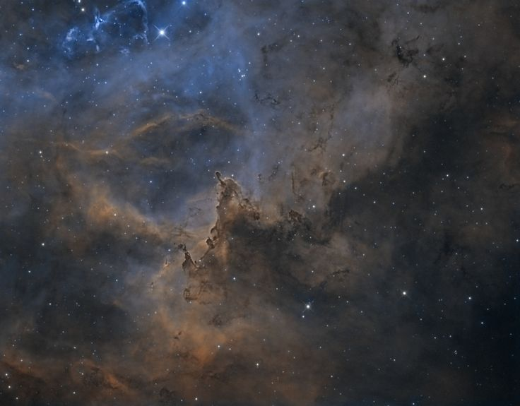 Gas and Dust clouds in the Rosette Nebula