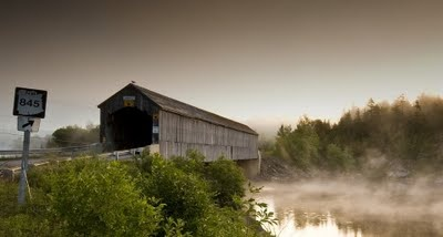 Covered Bridge on the Kingston Peninsula, New Brunswick, Canada.
