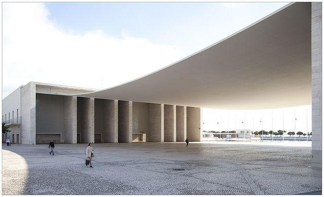 Pavilhão de Portugal in Lisboa, by Álvaro Siza Vieira, 1998.