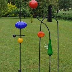 This new and exciting sculpture is our tribute to Miro and his fantastic paintings. We have combined bright opaque coloured glass with black stainless steel. An engineering feat itself. We can deliver all of our sculptures locally for free, there is a small charge for deliveries further afield #locoglass