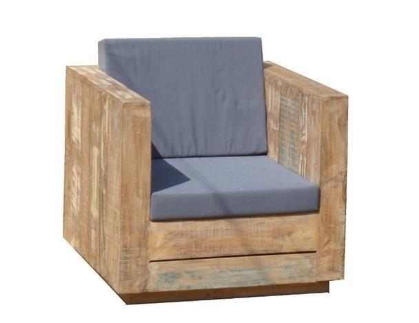 lounge sessel für den garten aus altem holz - garten möbel, Terrassen ideen